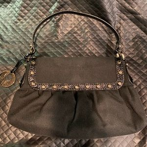 Fendi studded canvas shoulder bag